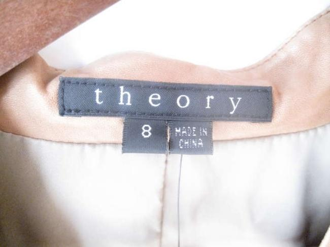 Theory Open Sepia Leather Jacket