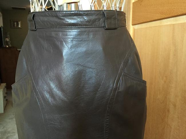 Pseudonyms Vintage Pencil Leather Skirt brown Image 1