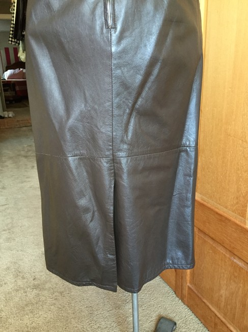 Pseudonyms Vintage Pencil Leather Skirt brown Image 7