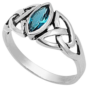 9.2.5 gorgeous open work blue topaz silver ring size 7