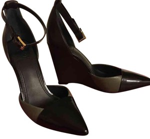Tory Burch Black/Porcini/Coconut Wedges