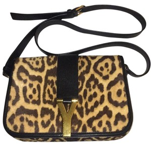 Saint Laurent Leopard Messenger Bag