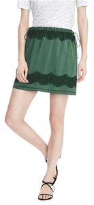 Banana Republic Lace Mini Br Mini Skirt Green