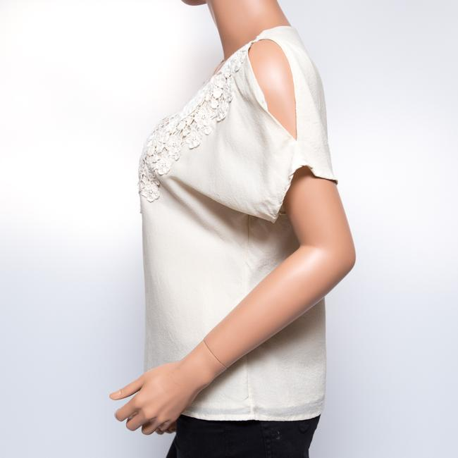 Leyendecker Lace Applique Lined Top Ivory Image 2