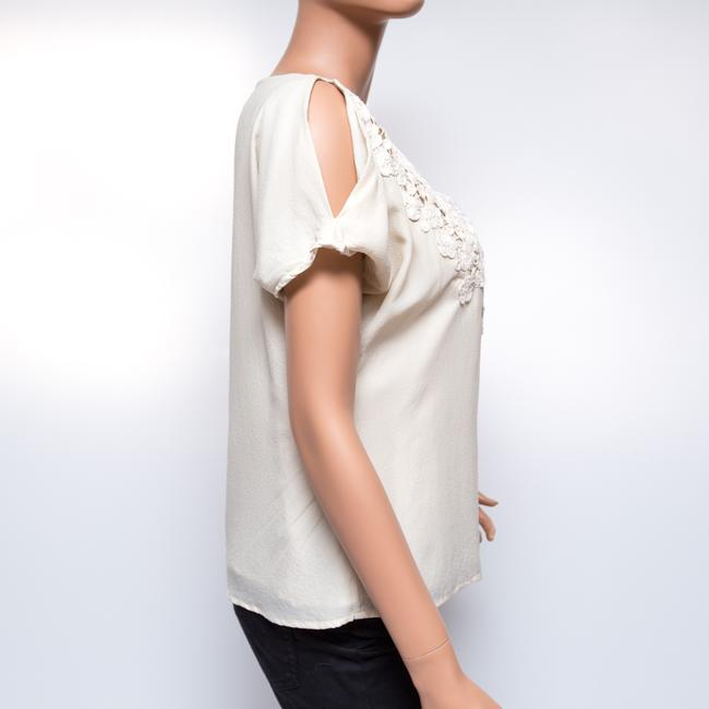 Leyendecker Lace Applique Lined Top Ivory Image 3
