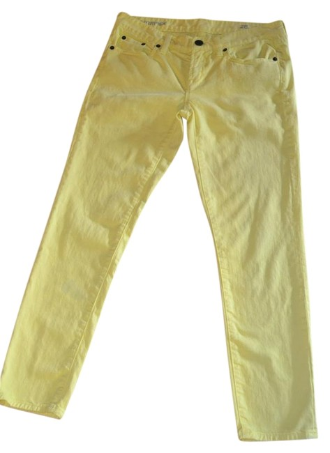 Item - Yellow Light Wash Ankle Toothpick In Fun Skinny Jeans Size 28 (4, S)
