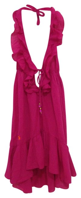 Item - Pink Rose Ruffle Halter Dress Cover-up/Sarong Size 4 (S)