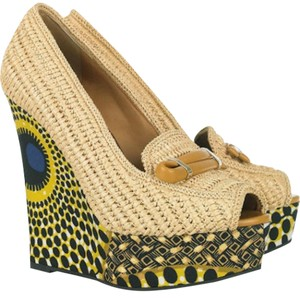 Burberry Prorsum Burberry Raffia Burberry Yellow Wedges