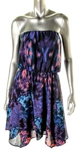 Aqua short dress Multi - Purple on Tradesy