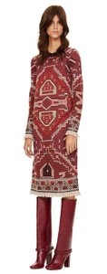 Tory Burch Sweater Long Sleeve Embellished Long Dress