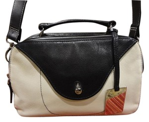 Furla Leather Satchel in black and white
