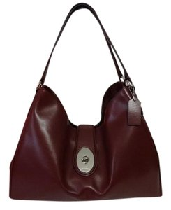 Coach Burgundy Leather Shoulder Bag
