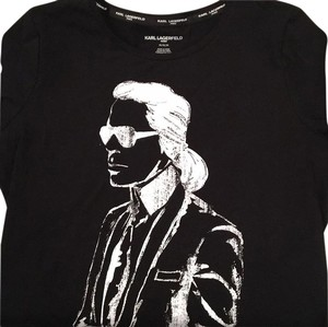 Karl Lagerfeld Chanel T Shirt black