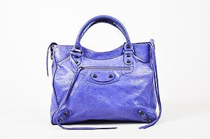 Balenciaga Light Satchel in Purple
