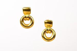 Vintage Vaubel Gold Plated Ring Clip On Earrings