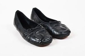 Chanel Leather Quilted Black Flats