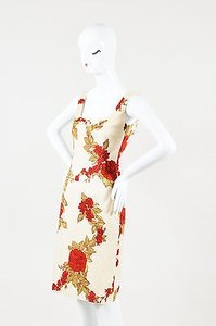 Dolce&Gabbana Dolce Gabbana Cream Red Dress