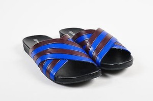 Opening Ceremony Maroon Blue Sandals