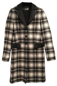 Moschino Love Plaid Wool Coat