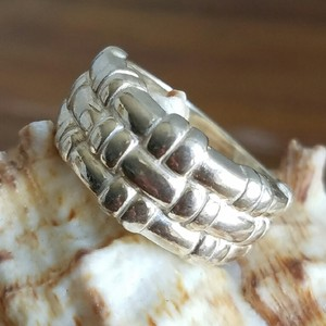 Sterling Silver Bamboo Inspired Ring