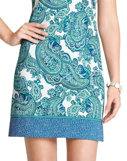 Ann Taylor short dress Teal/Blue/White Paisley on Tradesy Image 0