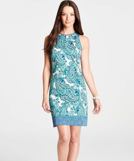 Ann Taylor short dress Teal/Blue/White Paisley on Tradesy Image 1