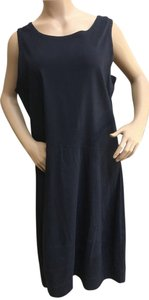 Eileen Fisher short dress dark navy Xl Extra Large on Tradesy