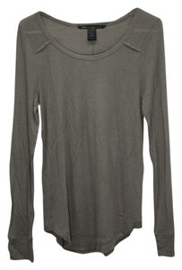 Marc by Marc Jacobs Ribbed Scoop Neck Longsleeve T-shirt Designer Gold Hardware T Shirt forest green