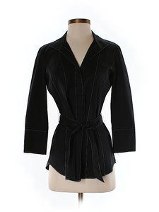 Lafayette 148 New York Belted Top Black