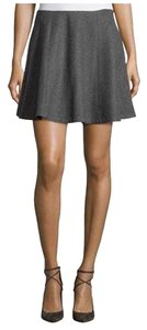 Theory Circle Mini Skirt heather grey
