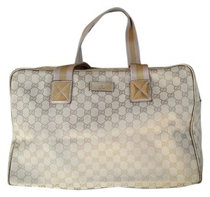 Gucci Luggage Tote Tote Beige/Gold/Pink Travel Bag
