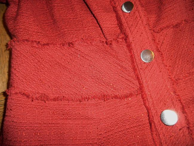 Mossimo Supply Co. Silver Buttons Raw Edge Spice, Rust Jacket Image 1