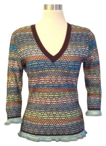 Missoni Cable-knit 3/4 Sleeve Wool Sweater