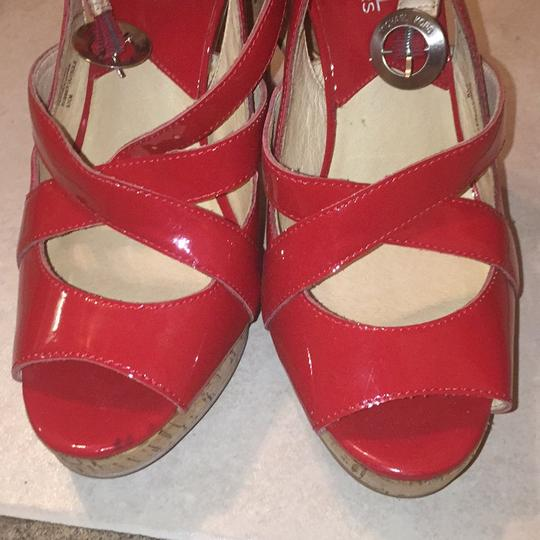 MICHAEL Michael Kors Red Platforms Image 1