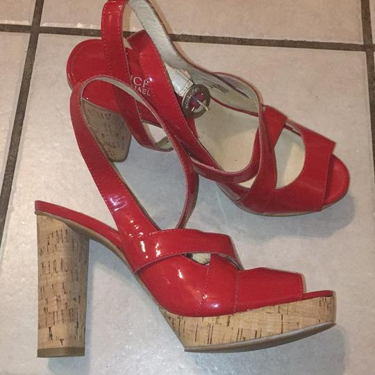 MICHAEL Michael Kors Red Platforms Image 3
