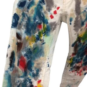 Free People Painted Corduroy Skinny Jeans