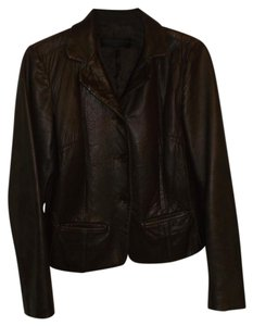 Donna Karan Collection Black Label Lambskin Italy Brown Leather Jacket