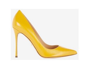 Sergio Rossi Pump Patent Leather yellow Pumps