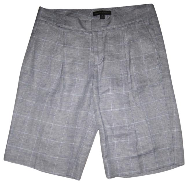 Preload https://img-static.tradesy.com/item/19832303/banana-republic-gray-avery-fit-linen-blend-plaid-pleated-shorts-size-0-xs-25-0-3-650-650.jpg