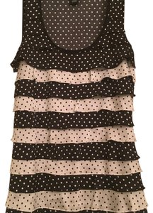 White House | Black Market Top Black and white with polka dots