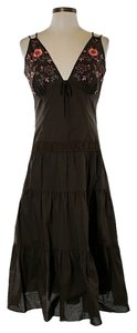 Maxi Dress by Laundry by Shelli Segal Embroidered Boho Bohemian Tiered