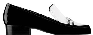 Chanel Loafers Patent Black & White Flats