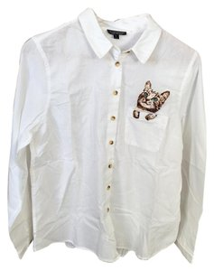 Topshop Shirt Cat Pocket Button Down Shirt white - item med img