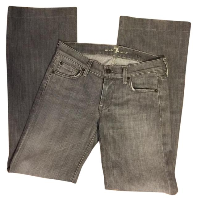 """Item - Medium Gray Wash 27-7 Boot-flare Jeans-30"""" Inseam Flare Leg Jeans Size 27 (4, S)"""