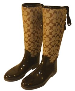 Coach Brown and beige Boots