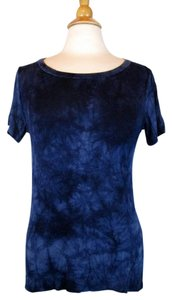 Tahari Top Black, Blue