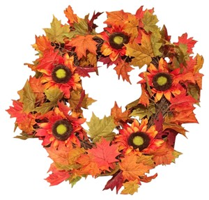 Bella Wreath Boutique Bella Wreath Fall Leaves And Sunflowers