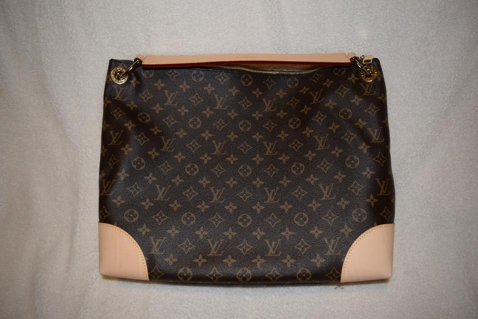 8e7bb6b69e4e Louis Vuitton Berri Sold Mm M41625 Brown Monogram Canvas Hobo Bag ...