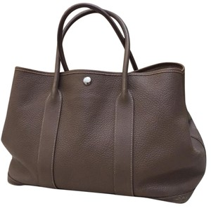 Herms Tote in Taupe