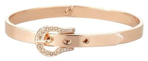 Juicy Couture Pave Buckle Skinny Hinged Bangle Bracelet, Rose Gold